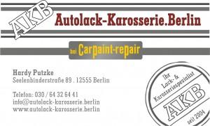 Visitenkarten Autolack-Karosserie Berlin